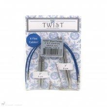 Aiguilles circulaires interchangeables Twist Short Combo Pack 4mm