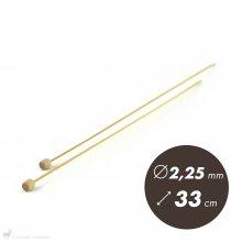 Aiguilles droites Aiguilles Bambou Clover 33cm / 2,25mm