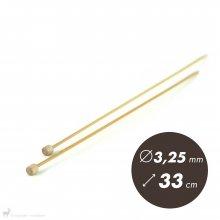 Aiguilles droites Aiguilles Bambou Clover 33cm/3,25mm