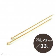 Aiguilles droites Aiguilles Bambou Clover 33cm/3,75mm