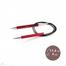 Aiguilles circulaires fixes 100cm Zing 9mm