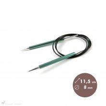 Aiguilles circulaires fixes 150cm Zing 8mm