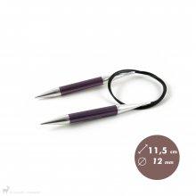 Aiguilles circulaires fixes 80cm Zing 12mm