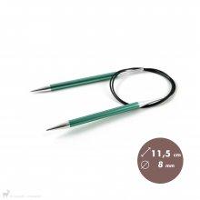 Aiguilles circulaires fixes 80cm Zing 8mm - KnitPro