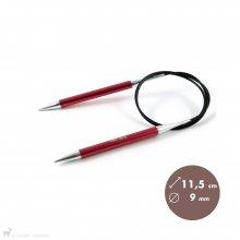Aiguilles circulaires fixes 80cm Zing 9mm - KnitPro