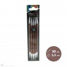 Aiguilles double pointe Zing 20cm 5,5mm