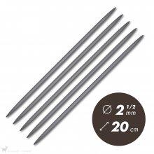 Aiguilles double pointe 20cm / 2,5mm - Prym