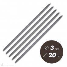 Aiguilles double pointe 20cm / 3mm - Prym