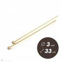 Aiguilles droites Aiguilles Bambou Clover 33cm / 3mm
