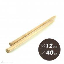 Aiguilles droites Aiguilles Basix KnitPro 40cm / 12mm