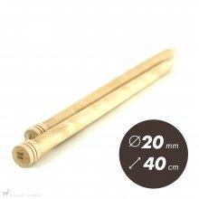 Aiguilles droites Aiguilles Basix KnitPro 40cm / 20mm
