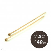 Aiguilles droites Aiguilles Basix KnitPro 40cm /5,5mm