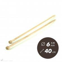 Aiguilles droites Aiguilles Basix KnitPro 40cm / 6.5mm