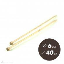 Aiguilles droites Aiguilles Basix KnitPro 40cm / 6mm