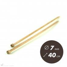 Aiguilles droites Aiguilles Basix KnitPro 40cm / 7mm