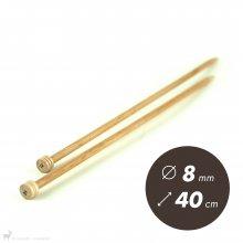Aiguilles droites Aiguilles Basix KnitPro 40cm / 8mm