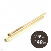 Aiguilles droites Aiguilles Basix KnitPro 40cm / 9mm