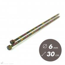 Aiguilles droites Aiguilles Symfonie KnitPro 30cm / 6mm