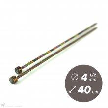 Aiguilles droites Aiguilles Symfonie KnitPro 40cm / 4.5mm