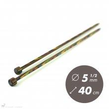 Aiguilles droites Aiguilles Symfonie KnitPro 40cm / 5.5mm