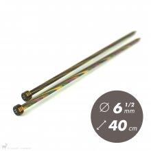 Aiguilles droites Aiguilles Symfonie KnitPro 40cm / 6.5mm