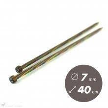 Aiguilles droites Aiguilles Symfonie KnitPro 40cm / 7mm