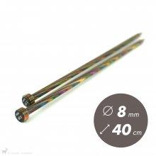 Aiguilles droites Aiguilles Symfonie KnitPro 40cm / 8mm
