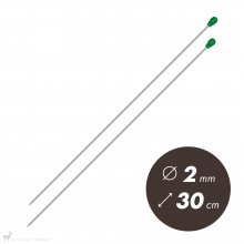 Aiguilles droites Aiguilles Aluminium Prym 30cm / 2mm