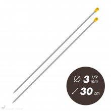 Aiguilles droites Aiguilles Aluminium Prym 30cm / 3.5mm