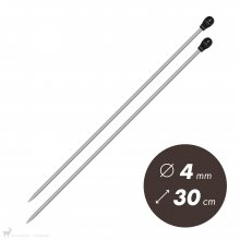 Aiguilles droites Aiguilles Aluminium Prym 30cm / 4mm