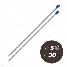 Aiguilles droites Aiguilles Aluminium Prym 30cm / 5.5mm