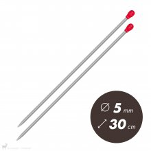 Aiguilles droites Aiguilles Aluminium Prym 30cm / 5mm