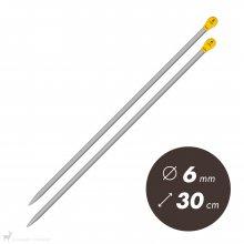 Aiguilles droites Aiguilles Aluminium Prym 30cm / 6mm