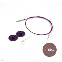 Aiguilles interchangeables Câble aiguille circulaire 50cm