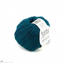 Laine mérinos Soyeuse Bleu Colvert 129