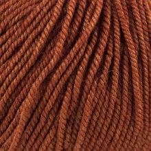 Laine mérinos Soyeuse Orange Cuivré 126