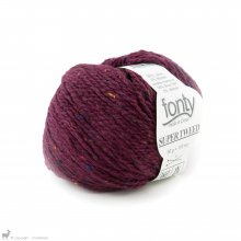 Laine mérinos Super Tweed Rouge Grenat 022