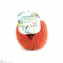 Laine angora Carezza Orange Citrouille 95