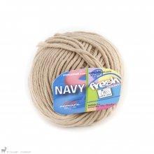 Fil de coton Navy Brun Camel 42