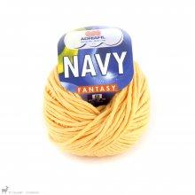 Fil de coton Navy Jaune Banana 68