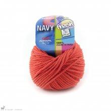 Fil de coton Navy Orange Citrouille 53