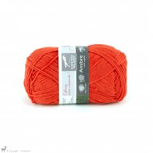 Fil de bambou Ambre Orange Piment 040