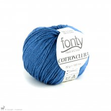 Fil de coton Cotton Club 3 Bleu Tecktonik 505
