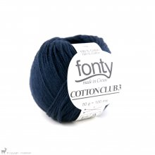 Fil de coton Cotton Club 3 Bleu YMCA 501