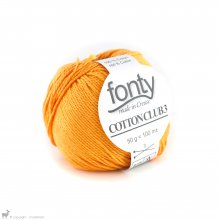 Fil de coton Cotton Club 3 Orange Vitaminé 484