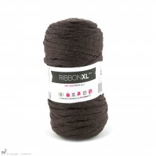 Fil de coton Hoooked Ribbon XL Brun Tobacco 39