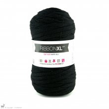 Fil de coton Hoooked Ribbon XL Noir Réglisse 26