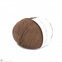 Fingering - 04 Ply Knitting For Olive Pure Silk Dark Cognac