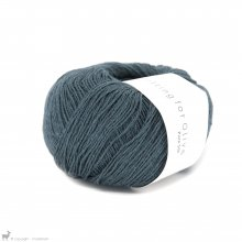 Fingering - 04 Ply Knitting For Olive Pure Silk Deep Petroleum Blue