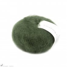 Fil de soie Knitting For Olive Soft Silk Mohair Bottle Green